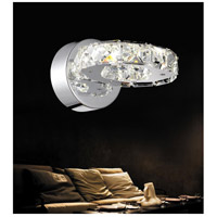 CWI Lighting 5080W7ST Ring LED 8 inch Chrome Wall Sconce Wall Light