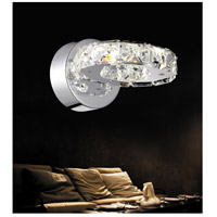 Ring LED 8 inch Chrome Wall Sconce Wall Light