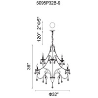 CWI Lighting Black Stainless Steel Chandeliers
