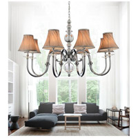 CWI Lighting 5108P36C-8 Curves 8 Light 36 inch Chrome Chandelier Ceiling Light