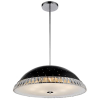 CWI Lighting 5109P16B Dome 5 Light 16 inch Black Chandelier Ceiling Light