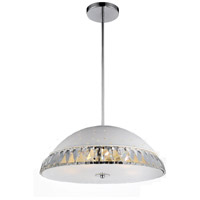 CWI Lighting 5109P16W Dome 5 Light 16 inch White Chandelier Ceiling Light