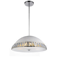 CWI Lighting 5109P18W Dome 6 Light 18 inch White Chandelier Ceiling Light