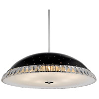CWI Lighting 5109P20B Dome 6 Light 20 inch Black Chandelier Ceiling Light