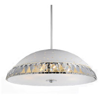 CWI Lighting 5109P24W Dome 8 Light 24 inch White Chandelier Ceiling Light