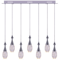 Dior LED 36 inch Chrome Chandelier Ceiling Light