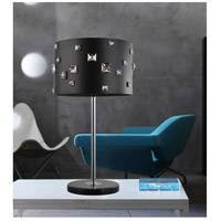 Shadow 26 inch 40 watt Black Table Lamp Portable Light