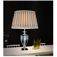 Yale 25 inch 60 watt Chrome Table Lamp Portable Light