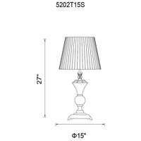 Yale 27 inch 60 watt Silver Table Lamp Portable Light
