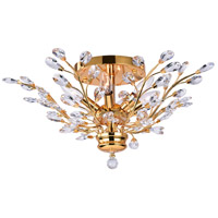CWI Lighting 5206C22G Ivy 6 Light 22 inch Gold Flush Mount Ceiling Light