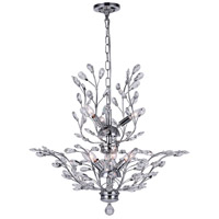 CWI Lighting 5206P28C Ivy 9 Light 28 inch Chrome Chandelier Ceiling Light