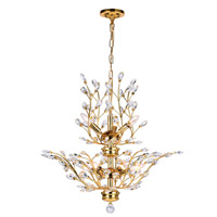 CWI Lighting 5206P28G Ivy 9 Light 28 inch Gold Chandelier Ceiling Light