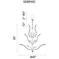 CWI Lighting 5206P40C Ivy 18 Light 40 inch Chrome Chandelier Ceiling Light
