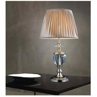 CWI Lighting 5208T15S Yale 27 inch 60 watt Silver Table Lamp Portable Light