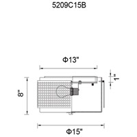 CWI Lighting 5209C15B Checkered 2 Light 15 inch Black Drum Shade Flush Mount Ceiling Light