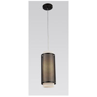 CWI Lighting 5209P5B Checkered 1 Light 5 inch Black Pendant Ceiling Light