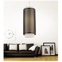 CWI Lighting 5209P6B Checkered 1 Light 6 inch Black Pendant Ceiling Light