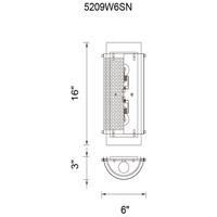 CWI Lighting 5209W6SN Checkered 2 Light 4 inch Satin Nickel Wall Sconce Wall Light