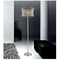 CWI Lighting 5300F18C Christie 67 inch 60 watt Chrome Floor Lamp Portable Light
