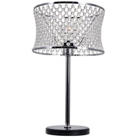 Christie 20 inch 60 watt Chrome Table Lamp Portable Light