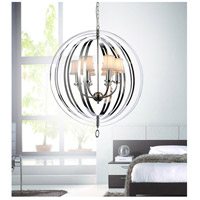 CWI Lighting 5308P28C-5 Bird Cage 5 Light 28 inch Chrome Chandelier Ceiling Light