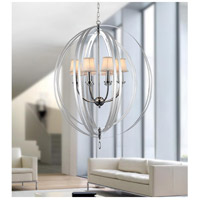 Chrome Metal Bird Cage Chandeliers