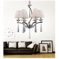 CWI Lighting 5316P24C-6 Alice 6 Light 24 inch Chrome Chandelier Ceiling Light