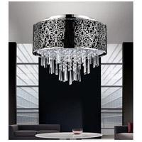 CWI Lighting 5318C16ST (BLACK) Tresemme 6 Light 16 inch Satin Nickel Drum Shade Flush Mount Ceiling Light