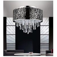 CWI Lighting 5318C16ST-(BLACK) Tresemme 6 Light 16 inch Satin Nickel Flush Mount Ceiling Light