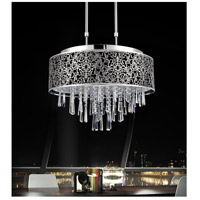 CWI Lighting 5318P20ST-(BLACK) Tresemme 8 Light 20 inch Stainless Steel Chandelier Ceiling Light