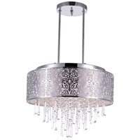 CWI Lighting 5318P20ST-(OFF-WHITE) Tresemme 8 Light 20 inch Stainless Steel Chandelier Ceiling Light