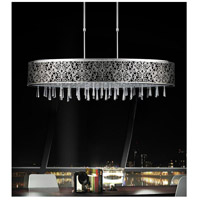 CWI Lighting 5318P38ST-(BLACK) Tresemme 7 Light 38 inch Stainless Steel Chandelier Ceiling Light