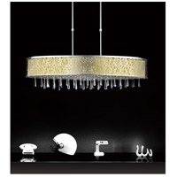 CWI Lighting 5318P38ST-(OFF-WHITE) Tresemme 7 Light 38 inch Stainless Steel Chandelier Ceiling Light