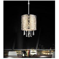CWI Lighting 5318P6ST-(OFF-WHITE) Tresemme 1 Light 6 inch Satin Nickel Pendant Ceiling Light