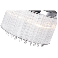 CWI Lighting 5319C14C-R Spring Morning 6 Light 14 inch Chrome Drum Shade Flush Mount Ceiling Light