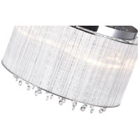 CWI Lighting 5319C14C-R Spring Morning 6 Light 14 inch Chrome Flush Mount Ceiling Light