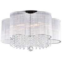 CWI Lighting 5319C20C Spring Morning 7 Light 20 inch Chrome Drum Shade Flush Mount Ceiling Light