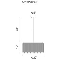 CWI Lighting Chrome Spring Morning Chandeliers