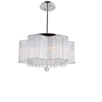 CWI Lighting 5319P20C Spring Morning 7 Light 20 inch Chrome Chandelier Ceiling Light