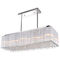 CWI Lighting 5319P32C-RC (STRAIGHT) Spring Morning 10 Light 32 inch Chrome Drum Shade Chandelier Ceiling Light