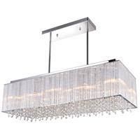 CWI Lighting 5319P32C-RC-(STRAIGHT) Spring Morning 10 Light 32 inch Chrome Chandelier Ceiling Light
