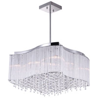 CWI Lighting 5320P20C-S Elsa 10 Light 20 inch Chrome Chandelier Ceiling Light