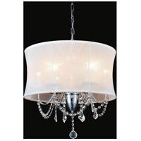 CWI Lighting 5335P20C-(WHITE) Charlotte 6 Light 20 inch Chrome Chandelier Ceiling Light