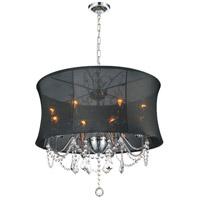 CWI Lighting 5335P24C-(BLACK) Charlotte 8 Light 24 inch Chrome Chandelier Ceiling Light