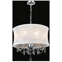 CWI Lighting 5335P24C-(WHITE) Charlotte 8 Light 24 inch Chrome Chandelier Ceiling Light