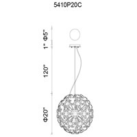 CWI Lighting 5410P20C Patricia 10 Light 20 inch Chrome Chandelier Ceiling Light