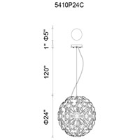 CWI Lighting 5410P24C Patricia 14 Light 24 inch Chrome Chandelier Ceiling Light