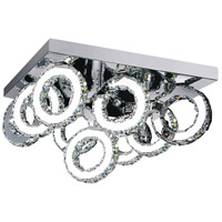 CWI Lighting 5417C24ST-RC-B Ring LED 24 inch Chrome Flush Mount Ceiling Light