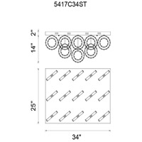 CWI Lighting 5417C34ST Ring LED 34 inch Chrome Flush Mount Ceiling Light