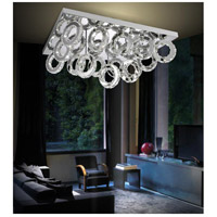 Ring LED 34 inch Chrome Flush Mount Ceiling Light